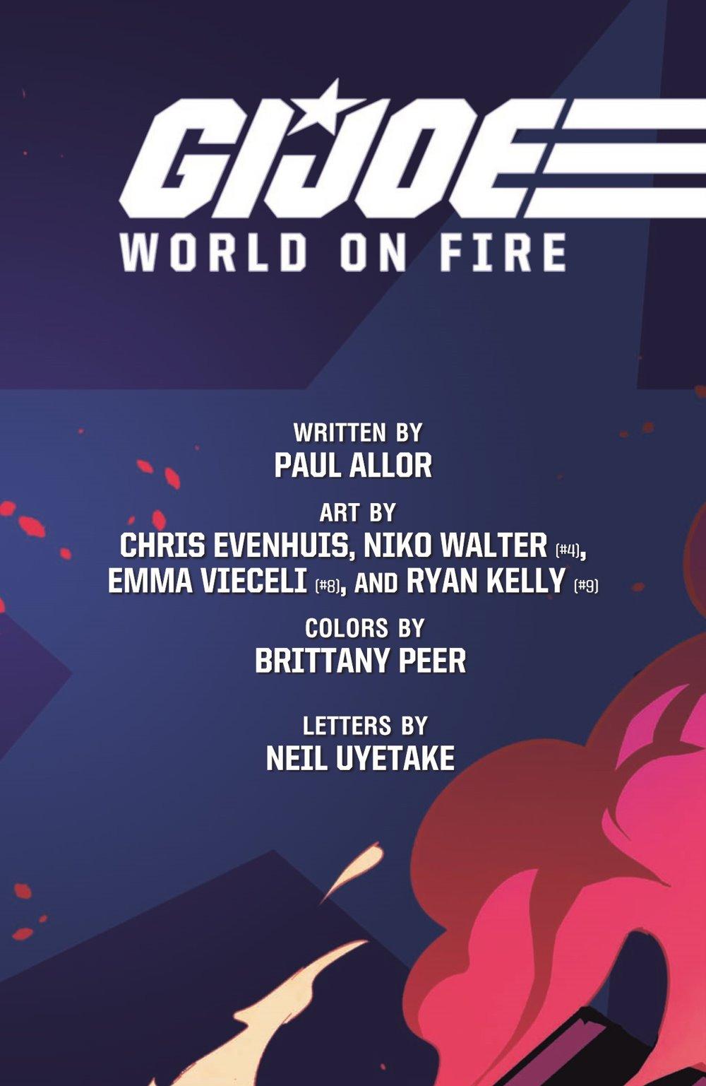 GIJOE_TPB_WoF_pr-3 ComicList Previews: G.I. JOE VOLUME 1 WORLD ON FIRE TP
