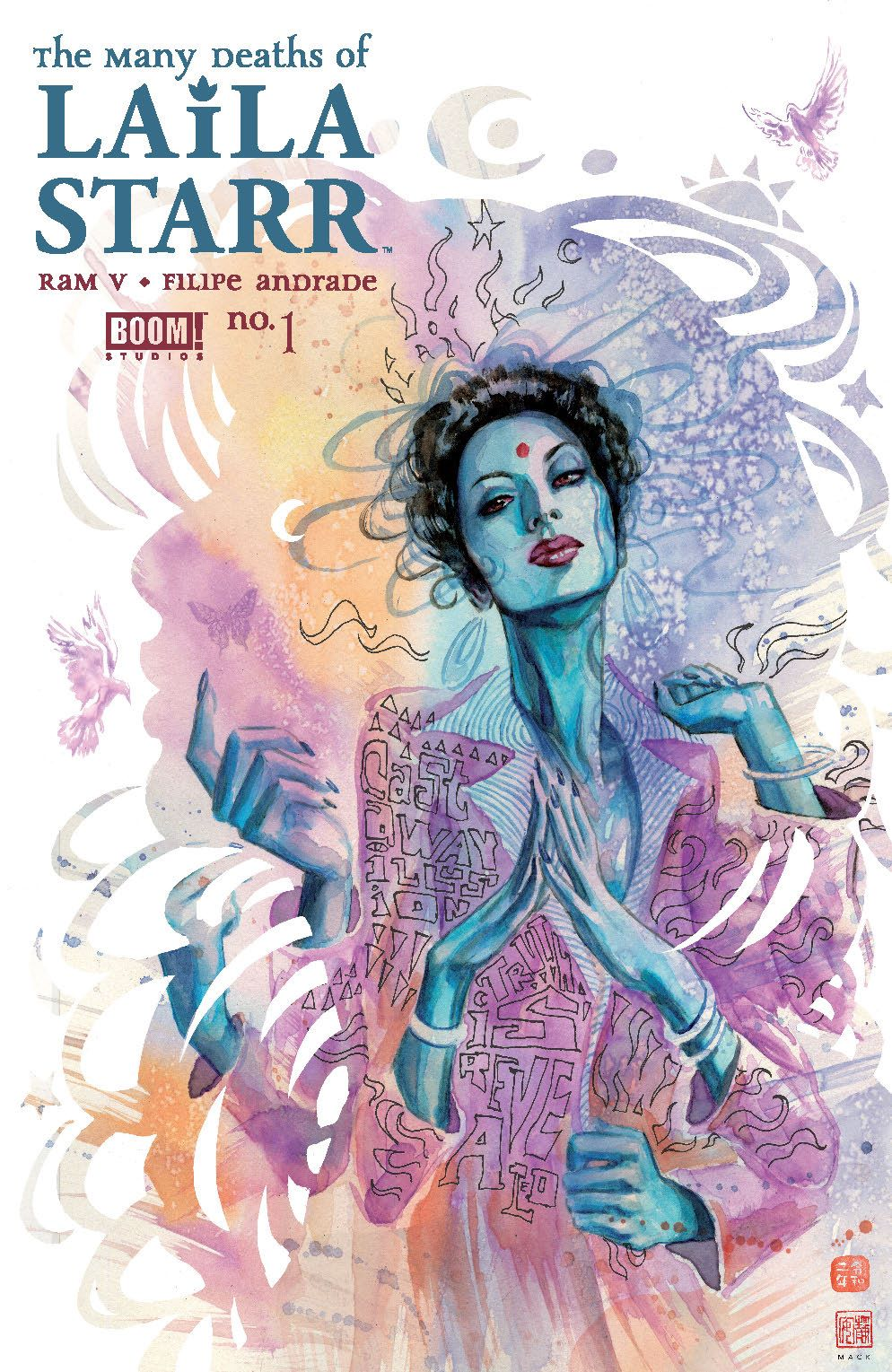 ManyDeathsLailaStarr_001_Cover_B_DeathFoil ComicList Previews: THE MANY DEATHS OF LAILA STARR #1