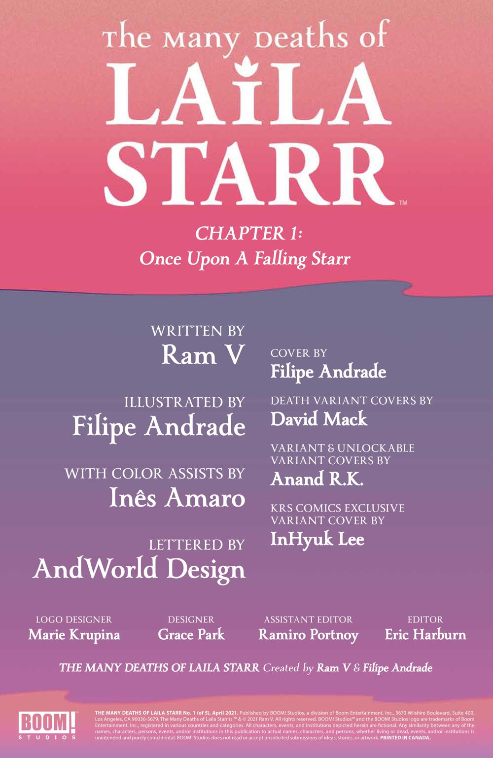 ManyDeathsLailaStarr_001_PRESS_2 ComicList Previews: THE MANY DEATHS OF LAILA STARR #1