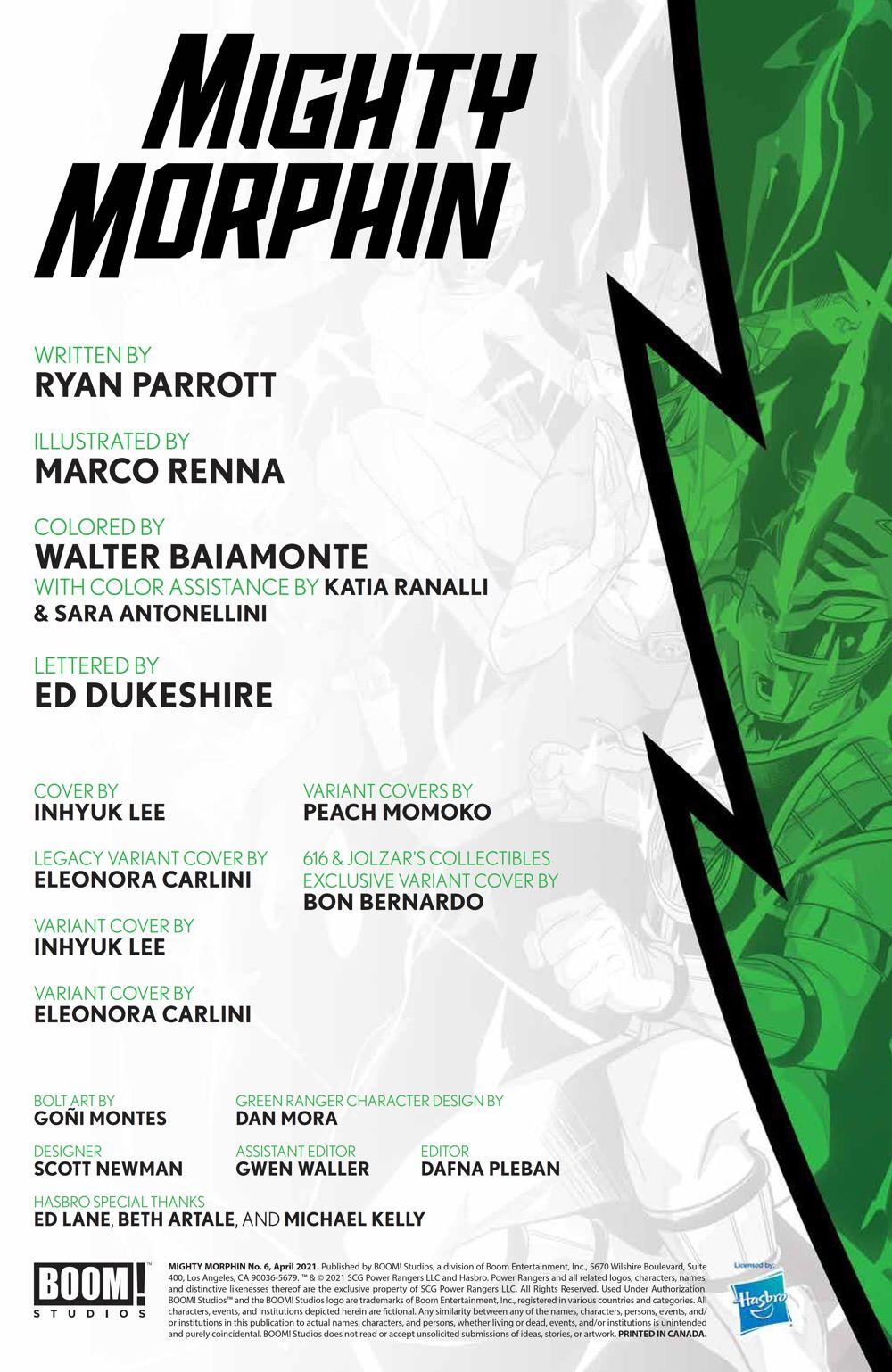 MightyMorphin_006_PRESS_2 ComicList Previews: MIGHTY MORPHIN #6
