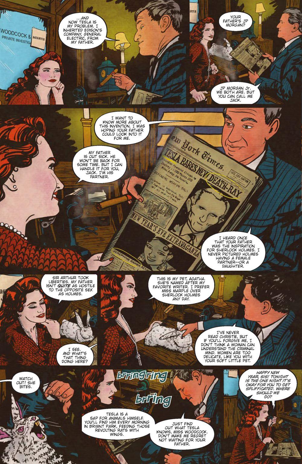 Minky-Interiors-Page_1 ComicList Previews: MINKY WOODCOCK THE GIRL WHO ELECTRIFIED TESLA #1