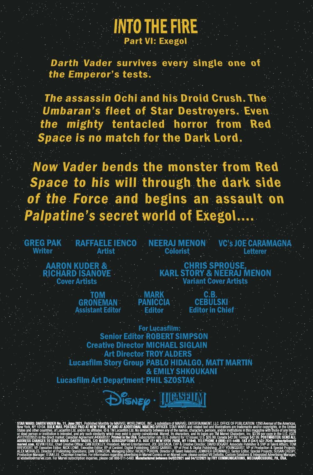 STWVADER2020011_Preview-2 ComicList Previews: STAR WARS DARTH VADER #11
