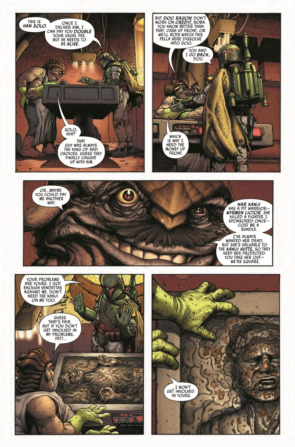 STWWAROTBHA2021001_Preview-7 ComicList Previews: STAR WARS WAR OF THE BOUNTY HUNTERS ALPHA #1