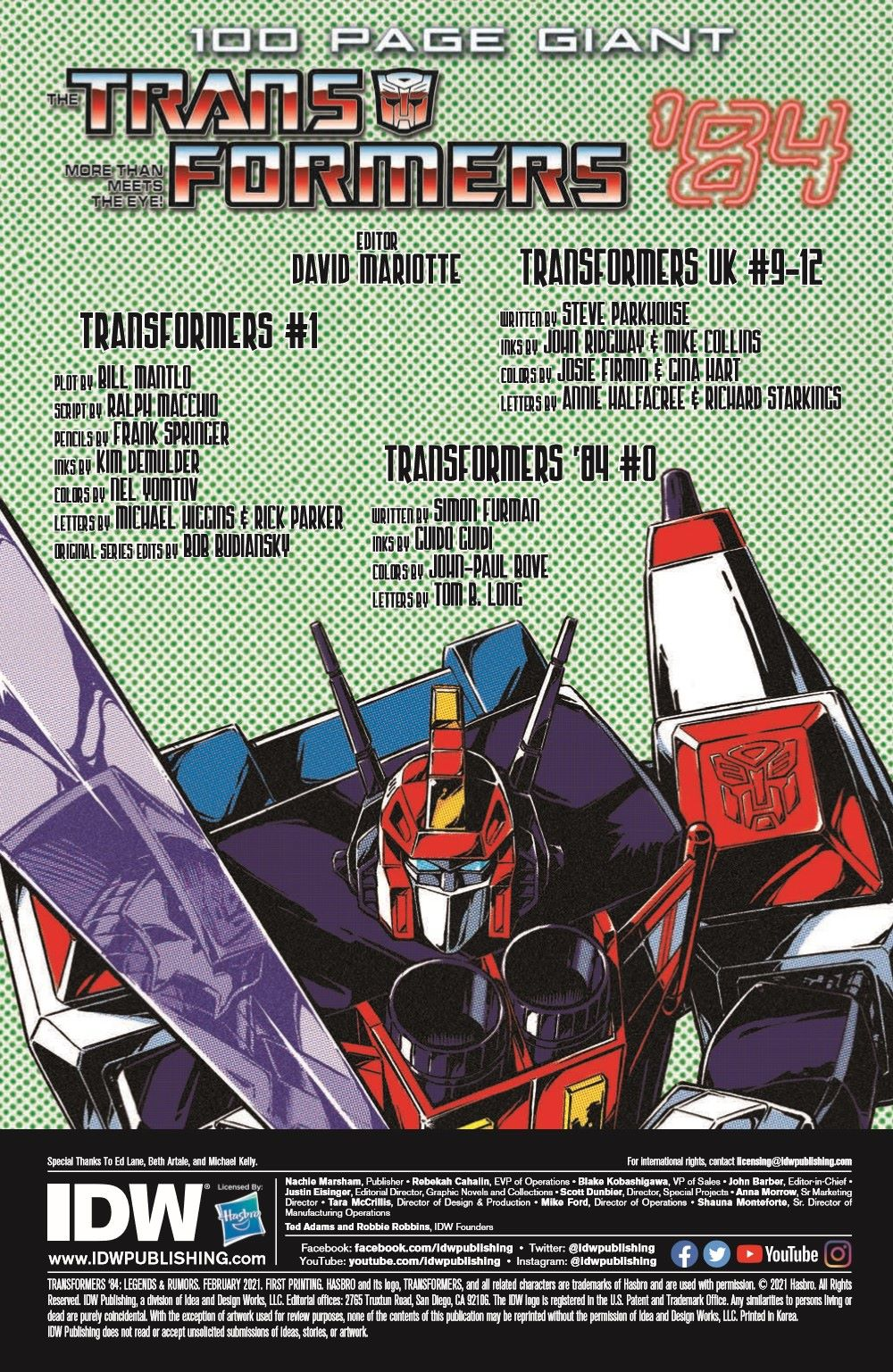 TF84-100PgGiant-pr-2 ComicList Previews: TRANSFORMERS '84 LEGENDS AND RUMORS 100-PAGE GIANT #1
