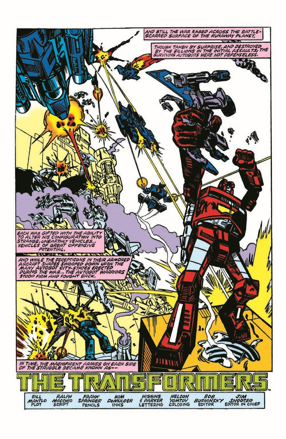 TF84-100PgGiant-pr-5 ComicList Previews: TRANSFORMERS '84 LEGENDS AND RUMORS 100-PAGE GIANT #1