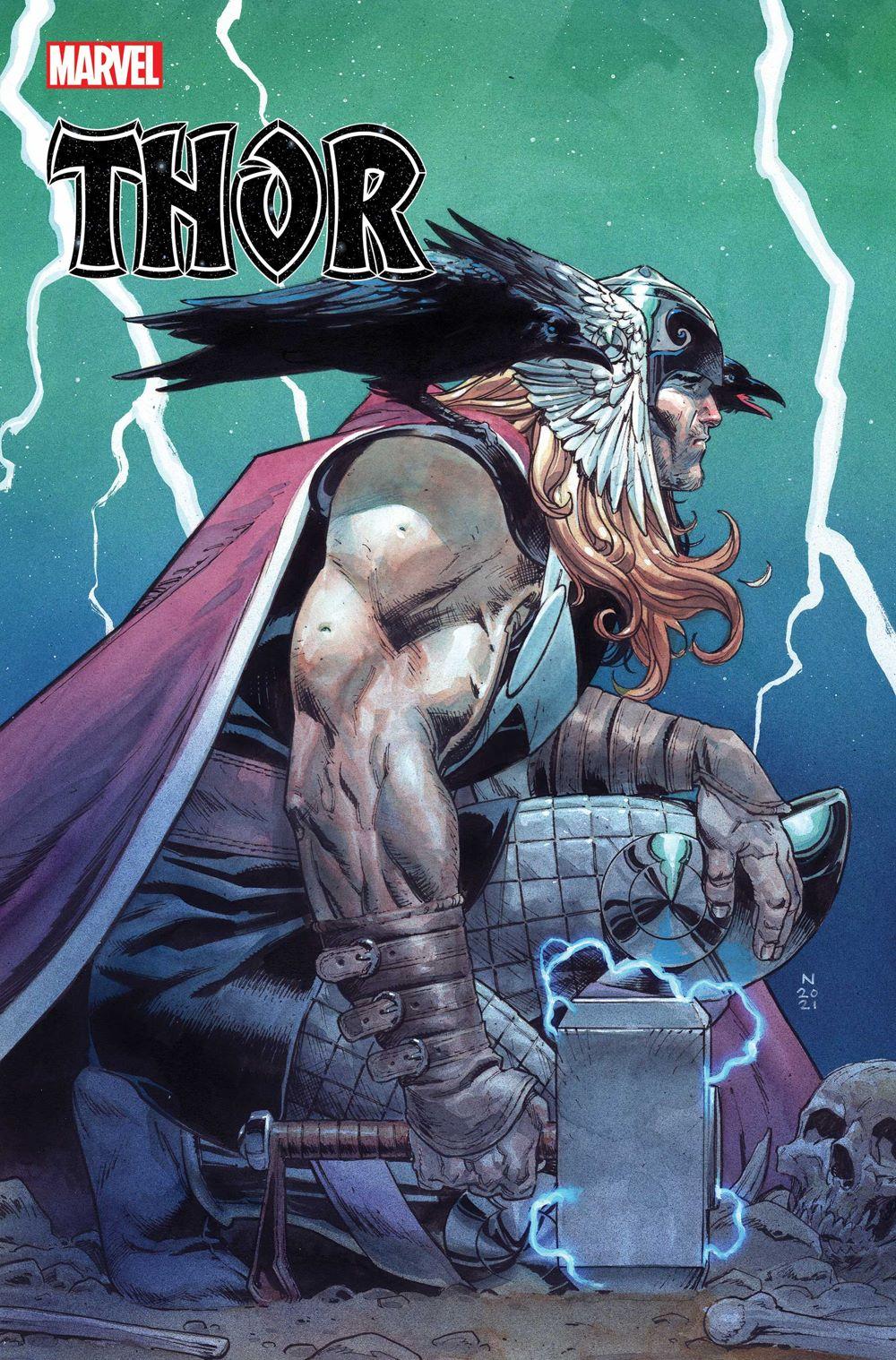 THOR2020015_Klein-var-1 Thor battles Captain America on THOR #15 variant cover