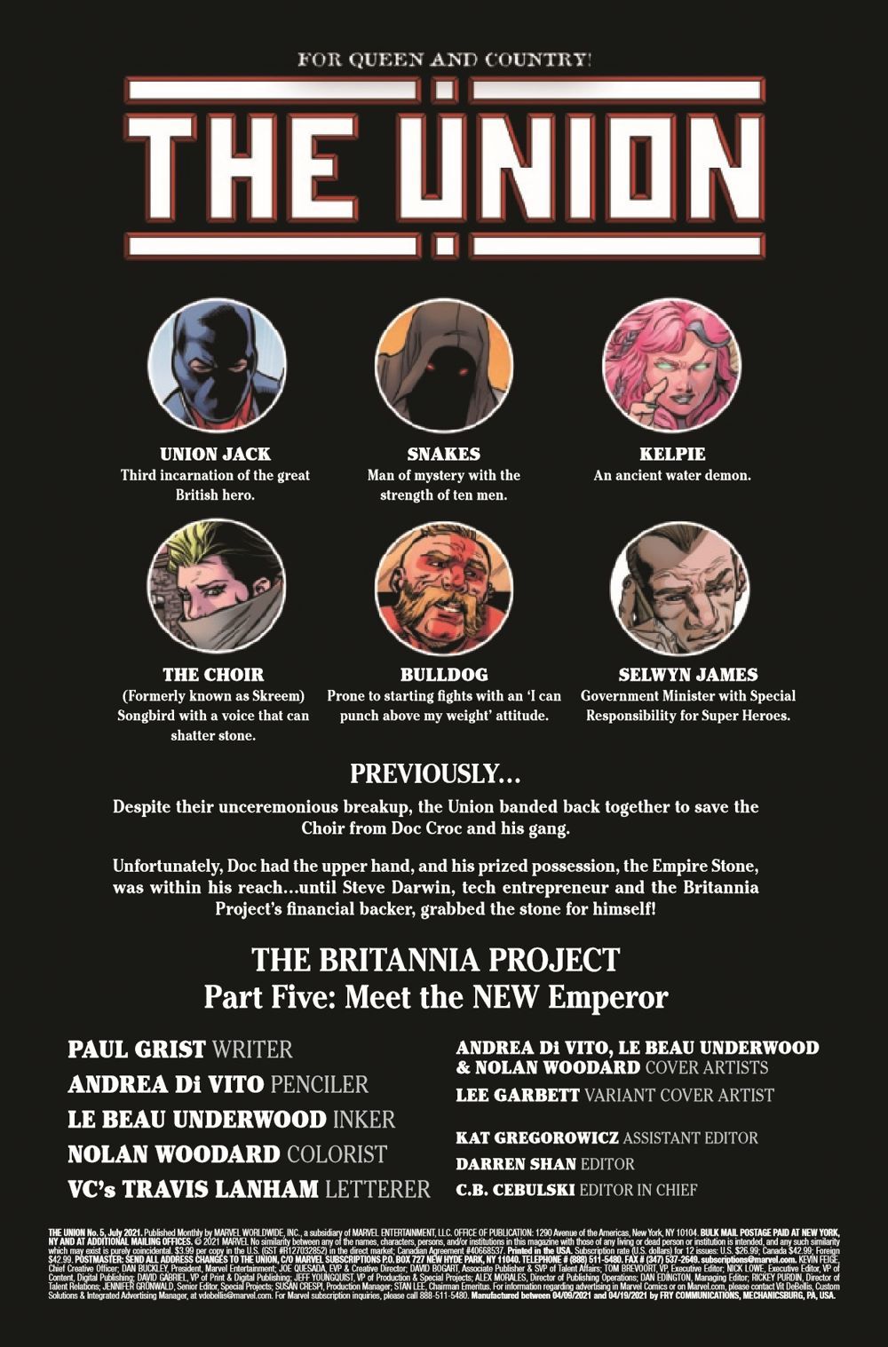 UNION2020005_Preview-2 ComicList Previews: THE UNION #5 (OF 5)