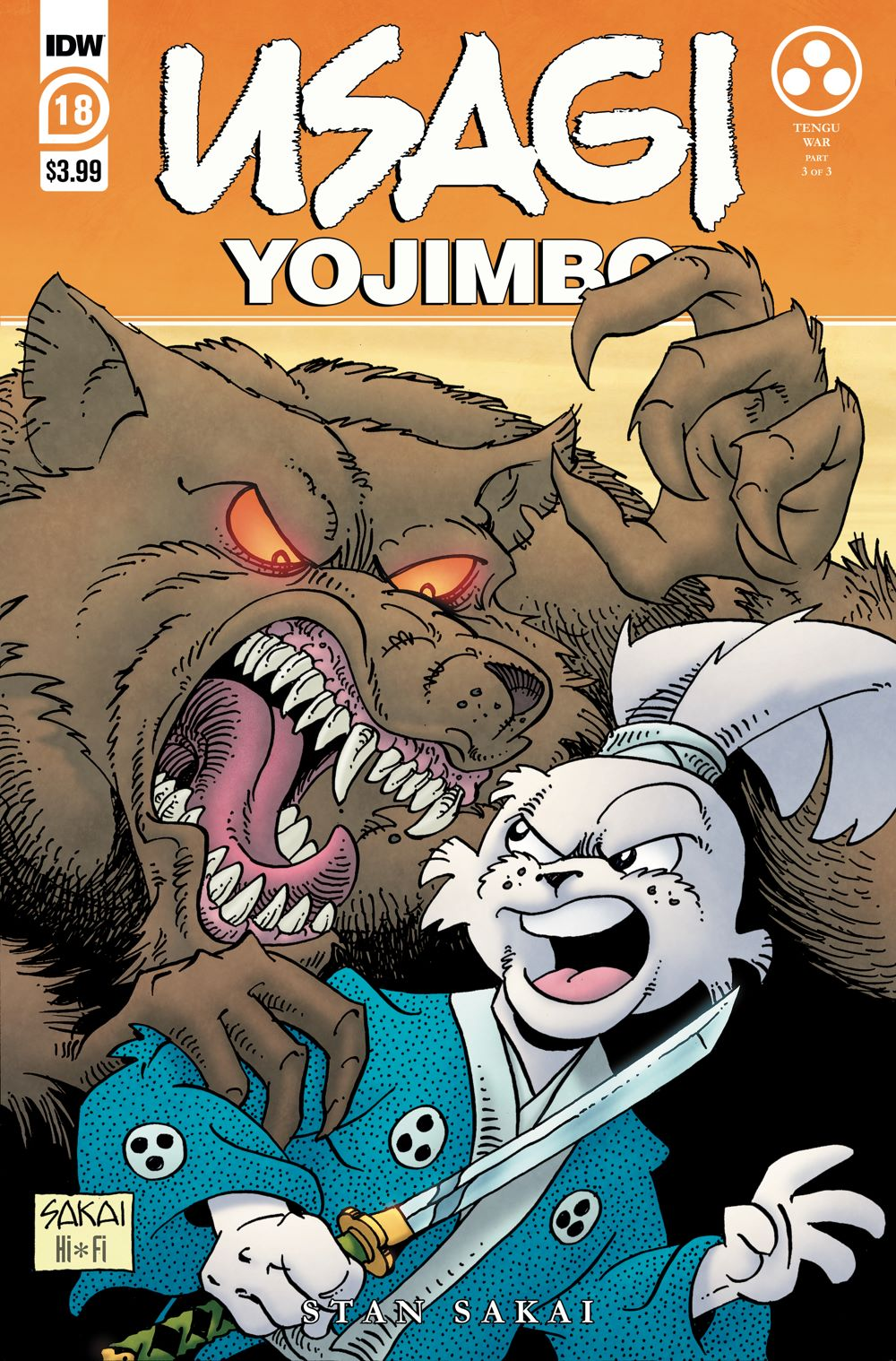 Usagi18_cvrA ComicList Previews: USAGI YOJIMBO #18