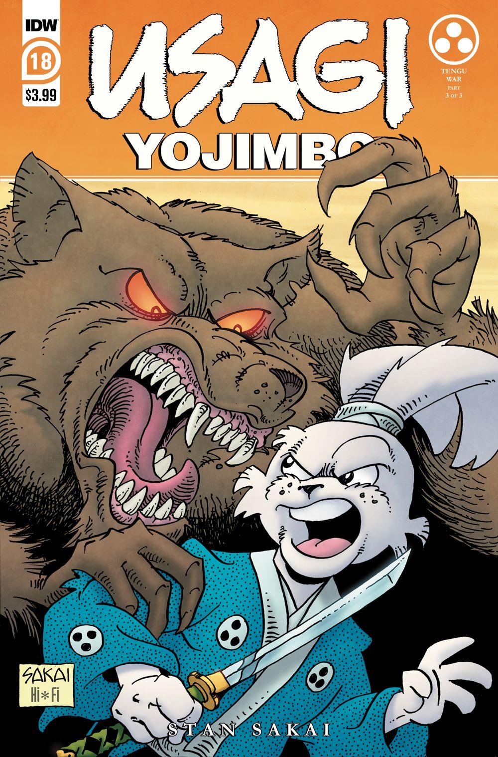 Usagi18_cvrA ComicList: IDW Publishing New Releases for 04/14/2021