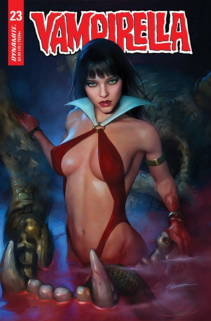Vampirella-23-23031-C-Maer Dynamite Entertainment July 2021 Solicitations