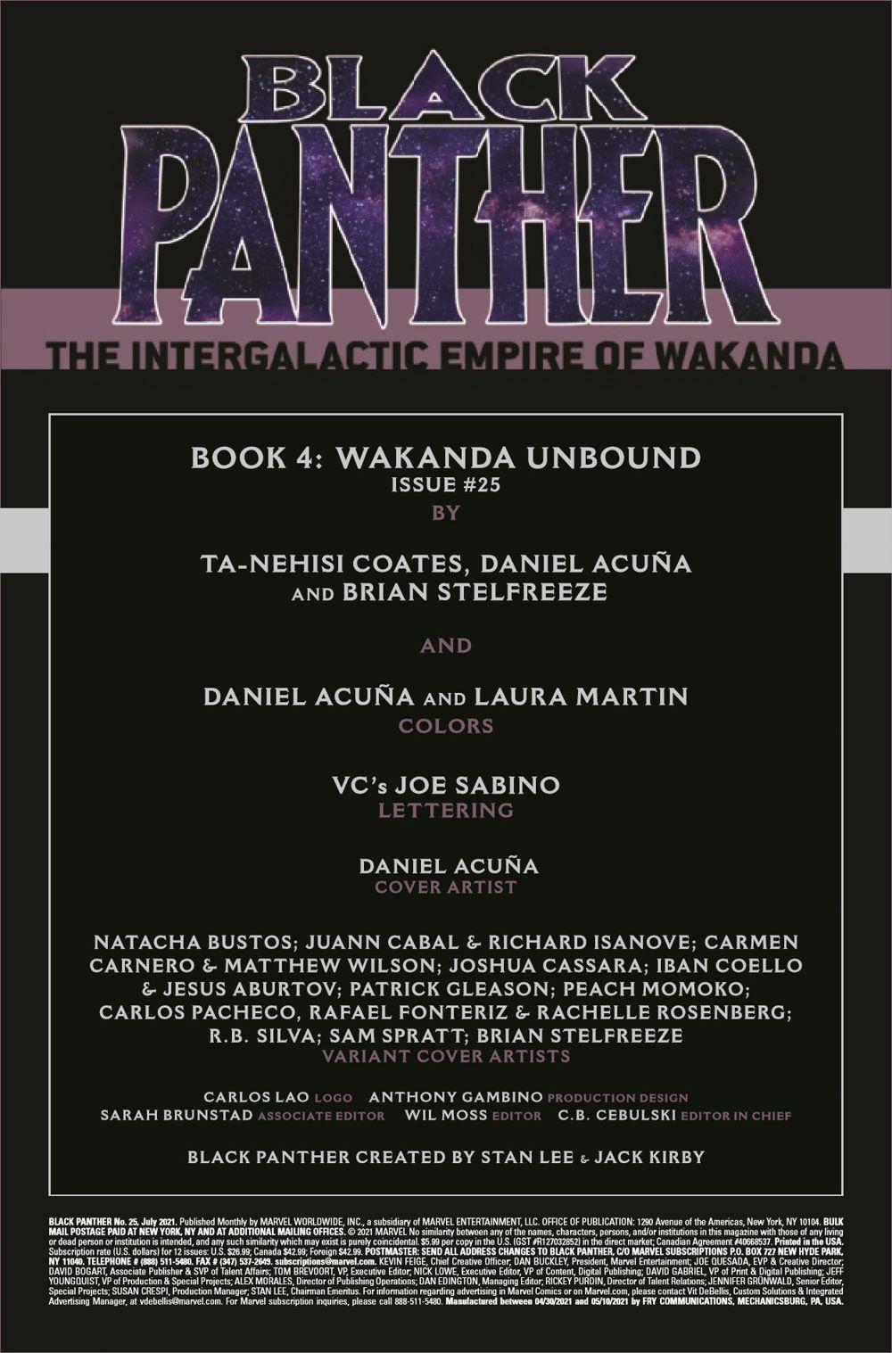 BLAP2018025_Preview-2 ComicList Previews: BLACK PANTHER #25