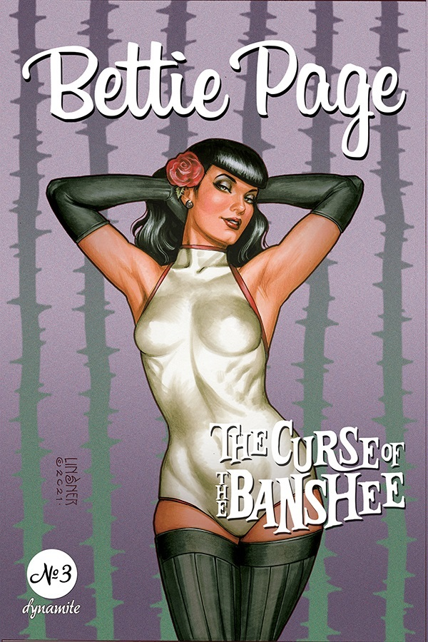 BettiePage2021-03-03021-B-Linsner Dynamite Entertainment August 2021 Solicitations