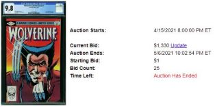 CGC-9.8-3-300x149 1 Comic, 5 Auction Lots: Wolverine Limited Series #1
