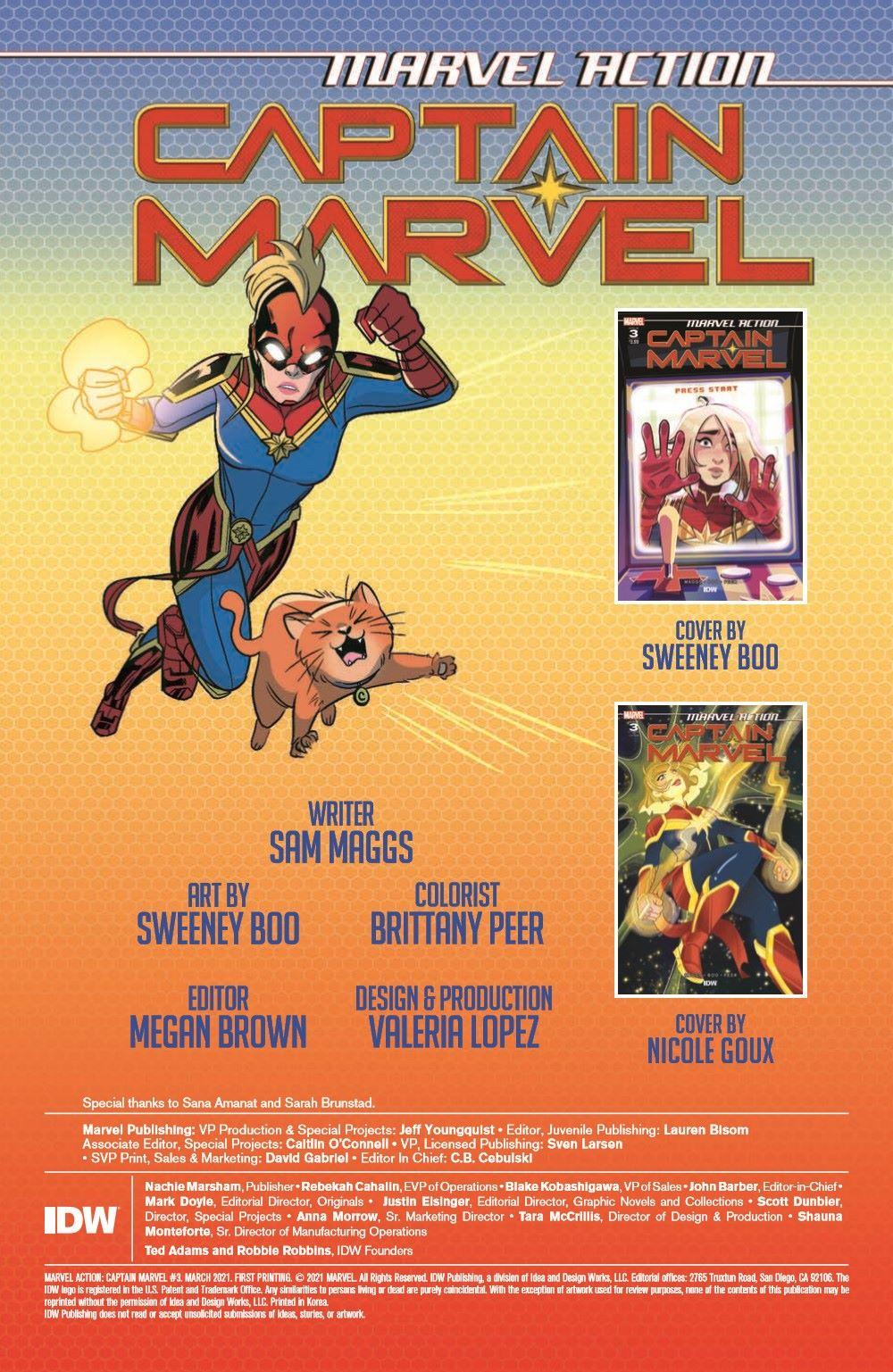 CaptainMarvel2_03_pr-2 ComicList Previews: MARVEL ACTION CAPTAIN MARVEL VOLUME 2 #3