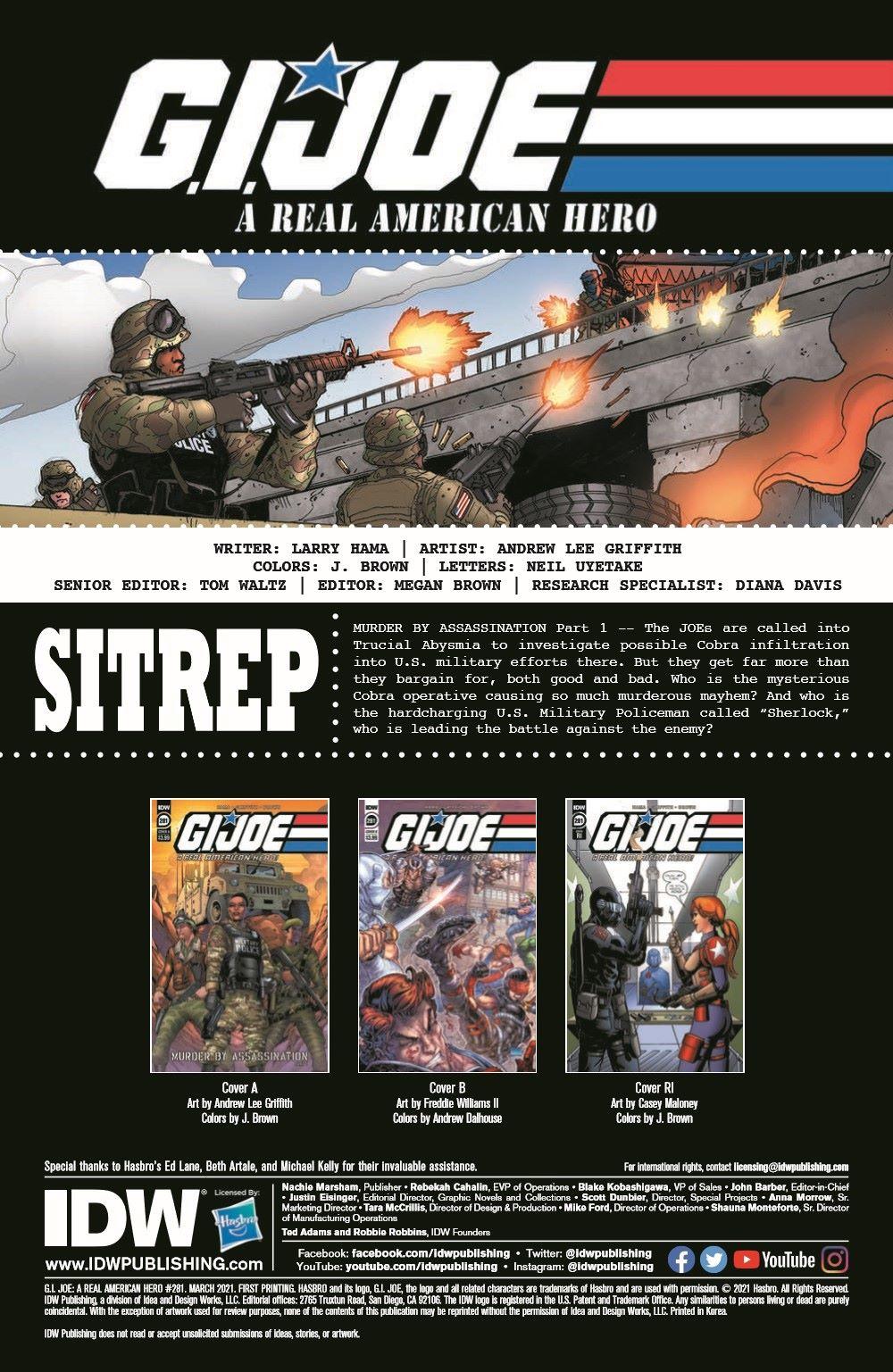 GIJoeRAH281-pr-2 ComicList Previews: G.I. JOE A REAL AMERICAN HERO #281