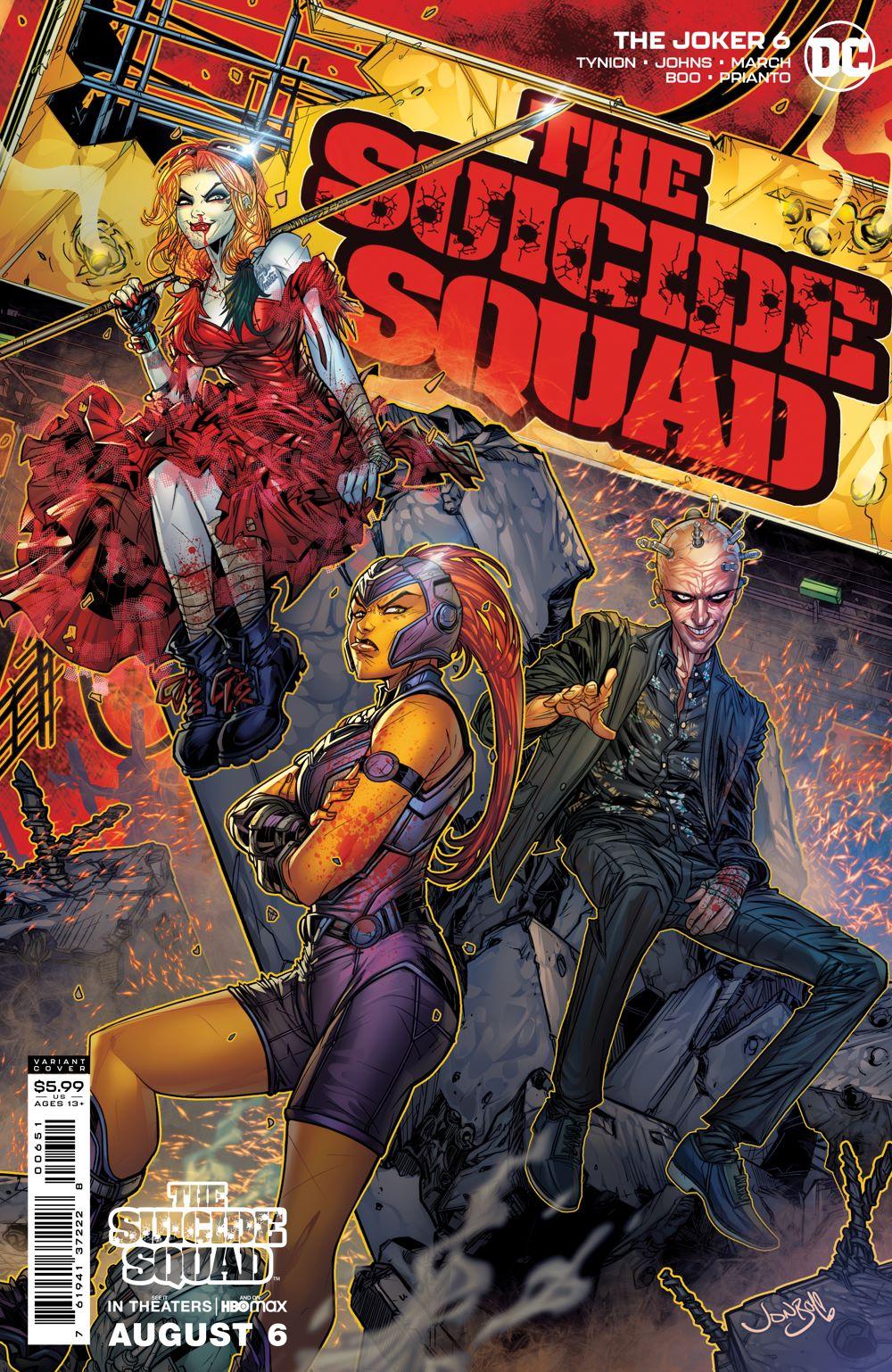 JKR_Cv6_SSQUADMOVIE_var_00651 DC Comics August 2021 Solicitations