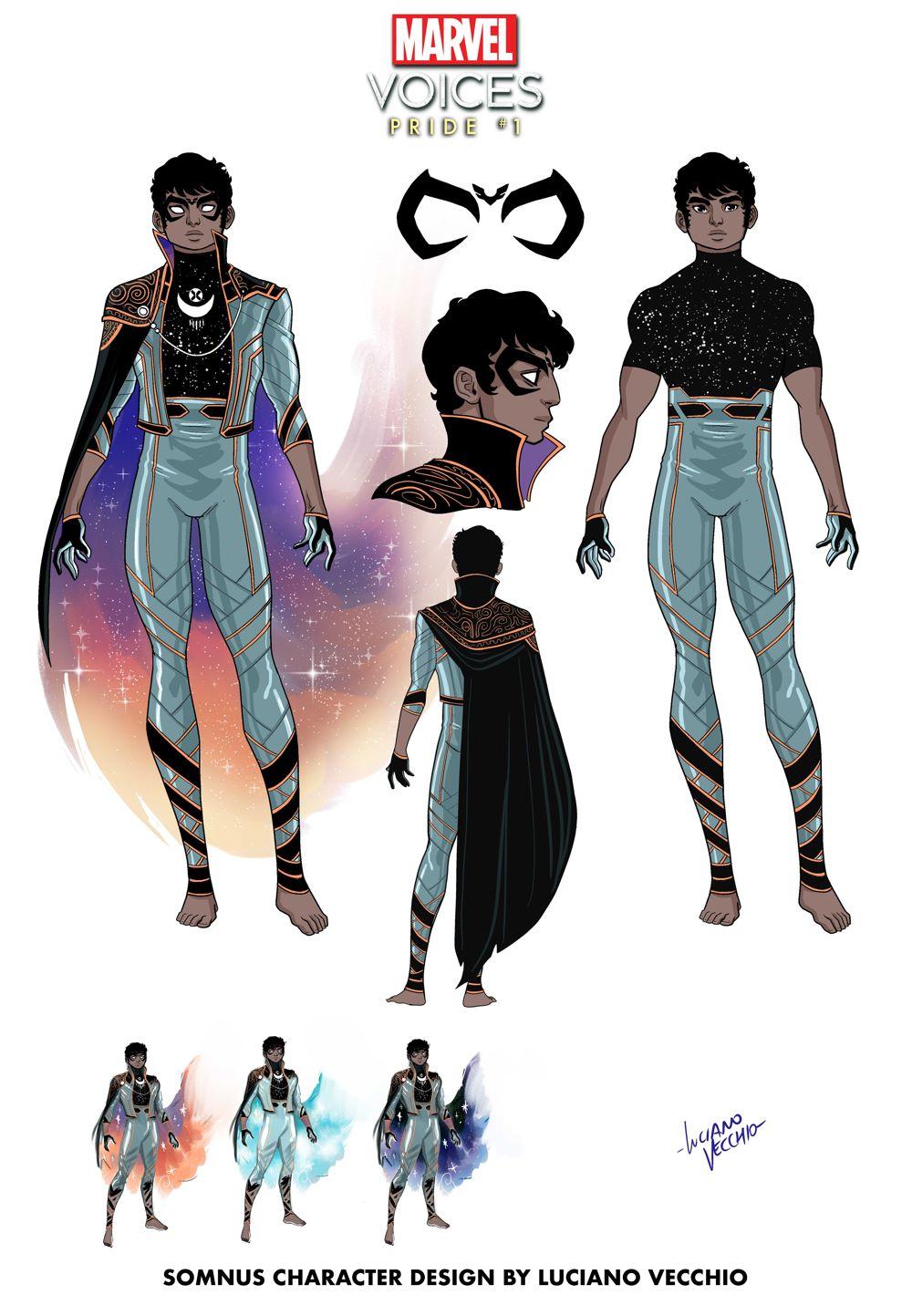 MARVOICESPRIDE2021001_Somnus-character-design Somnus wakes the world in MARVEL'S VOICES: PRIDE #1