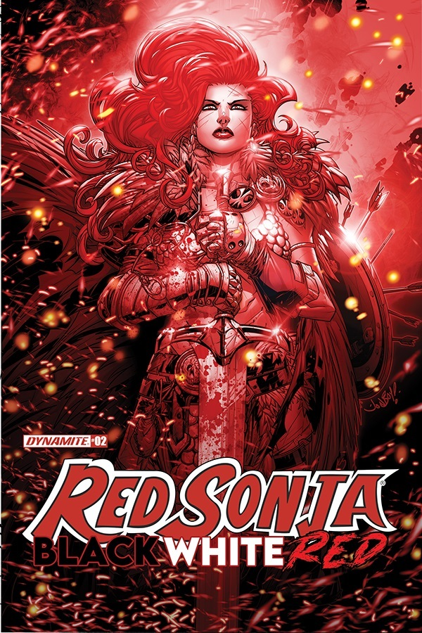 RSBWR-02-02021-B-Meyers RED SONJA: BLACK, WHITE, RED lines up more top creators