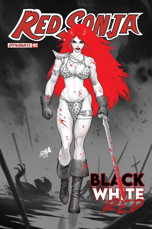 RSBWR-02-02031-C-Nakayama RED SONJA: BLACK, WHITE, RED lines up more top creators