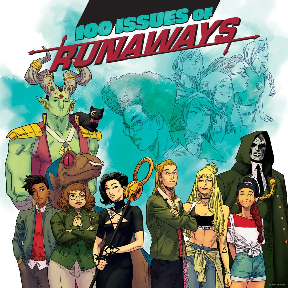 RUNAWAYS_100-Teaser 100th issue of RUNAWAYS to be a giant-sized spectacular