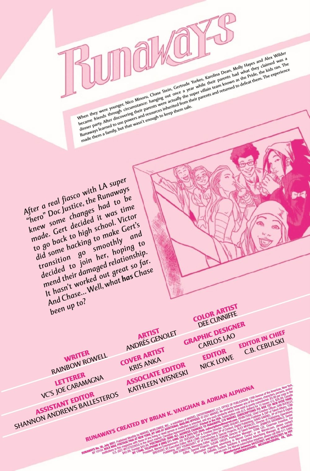 RUNAWY2017036_Preview-2 ComicList Previews: RUNAWAYS #36