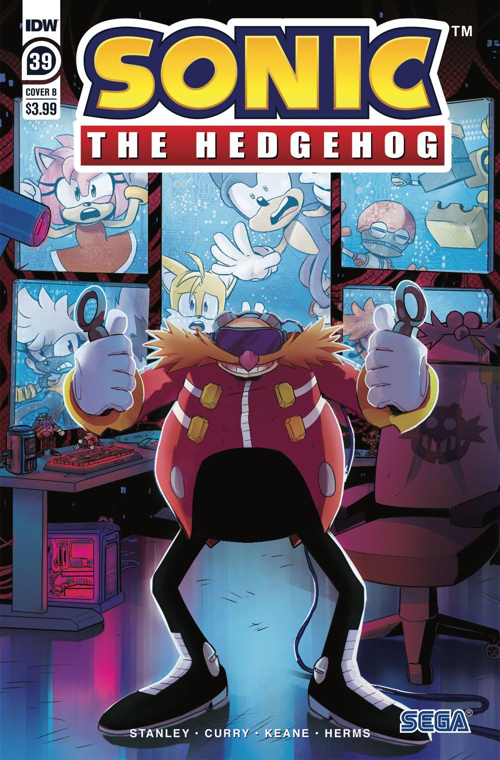 STH39_cvrB ComicList Previews: SONIC THE HEDGEHOG #39