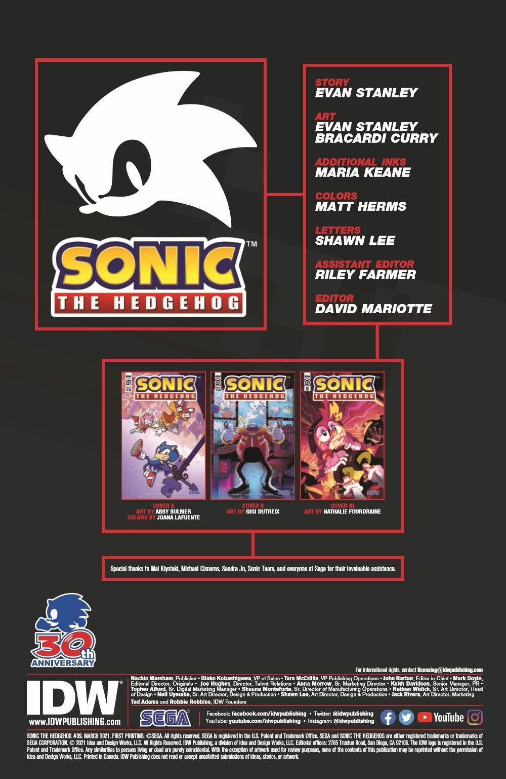 STH39_pr-2 ComicList Previews: SONIC THE HEDGEHOG #39