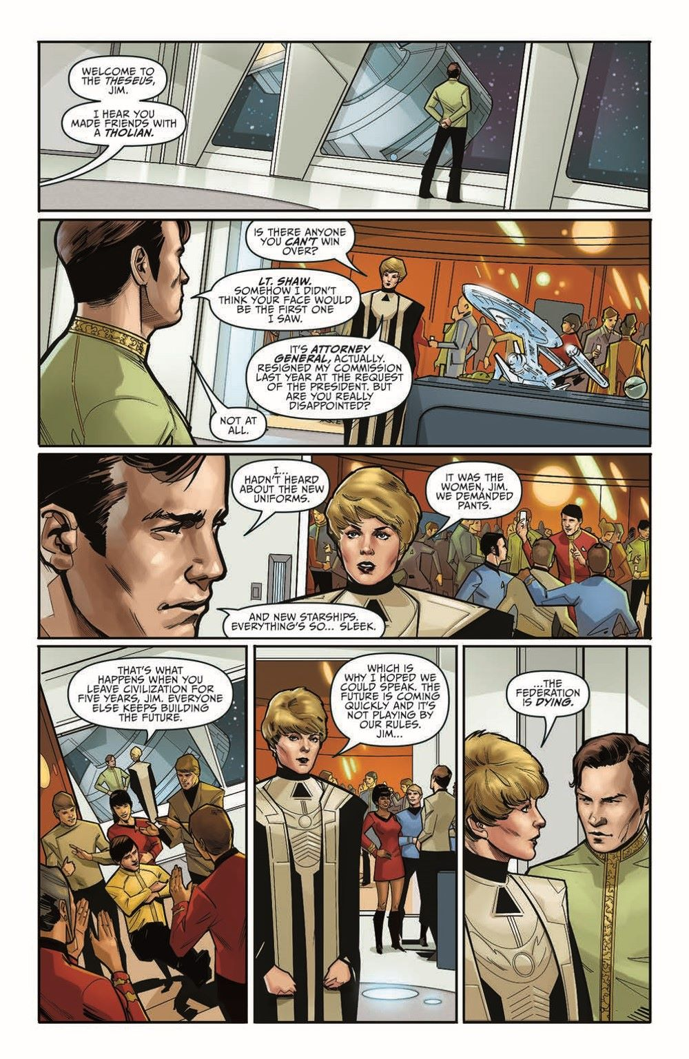 ST_YearFive_Vol3_pr-7 ComicList Previews: STAR TREK YEAR FIVE VOLUME 3 WEAKER THAN MAN TP