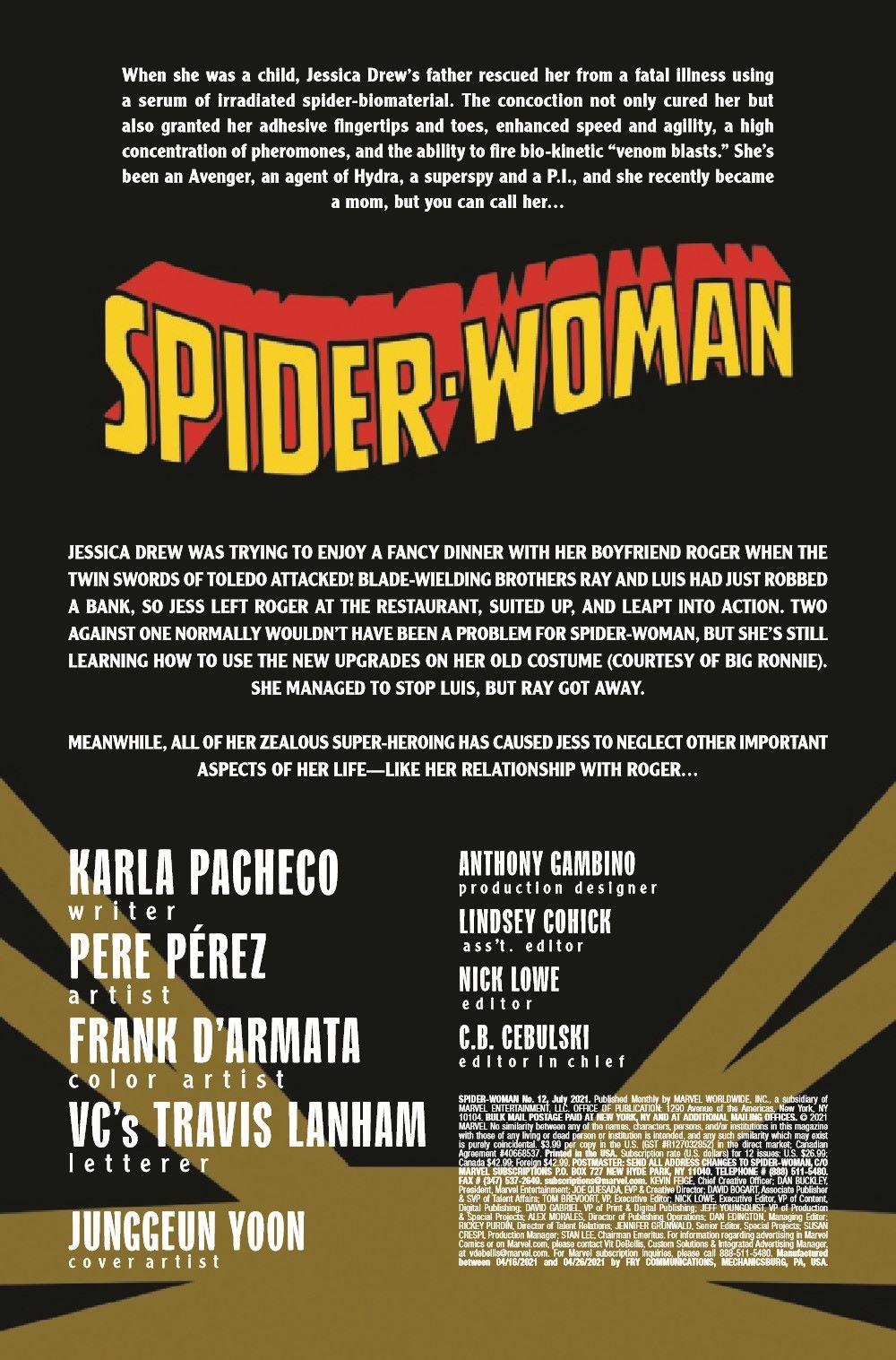 SWOMAN2020012_Preview-2 ComicList Previews: SPIDER-WOMAN #12