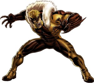 Sabretooth-Wolverine-X-Men-Marvel-Comics-h2-300x266 Blogger Dome - Sabretooth vs. Bullseye