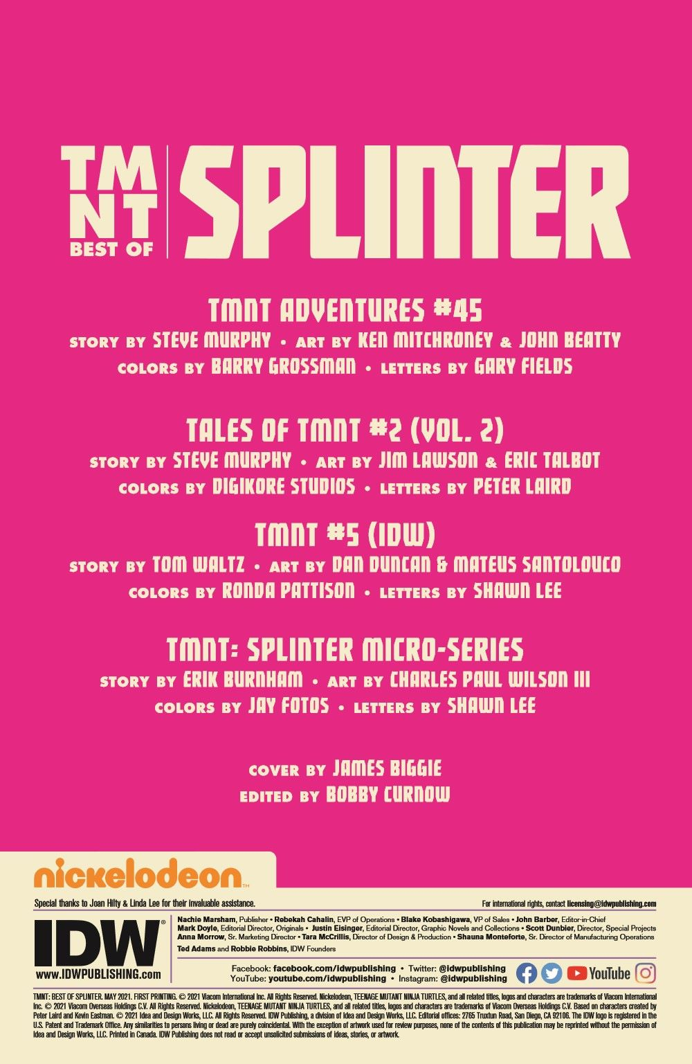 TMNT-Bestof-Splinter_pr-2 ComicList Previews: TEENAGE MUTANT NINJA TURTLES BEST OF SPLINTER #1
