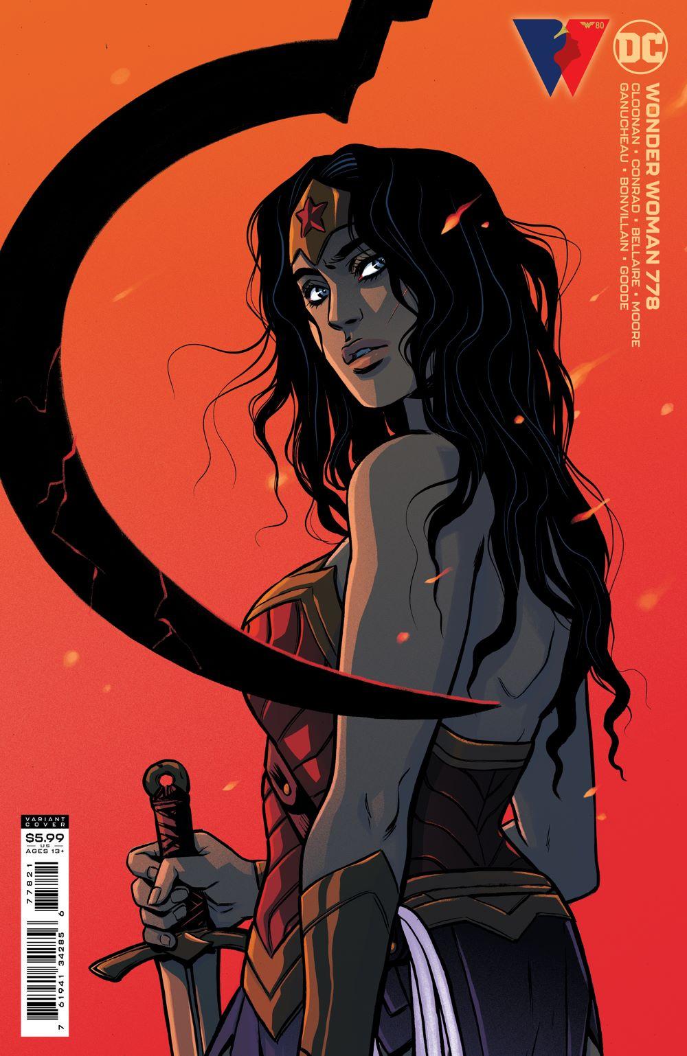 WONDERWOMAN_Cv778_var_77821 DC Comics August 2021 Solicitations