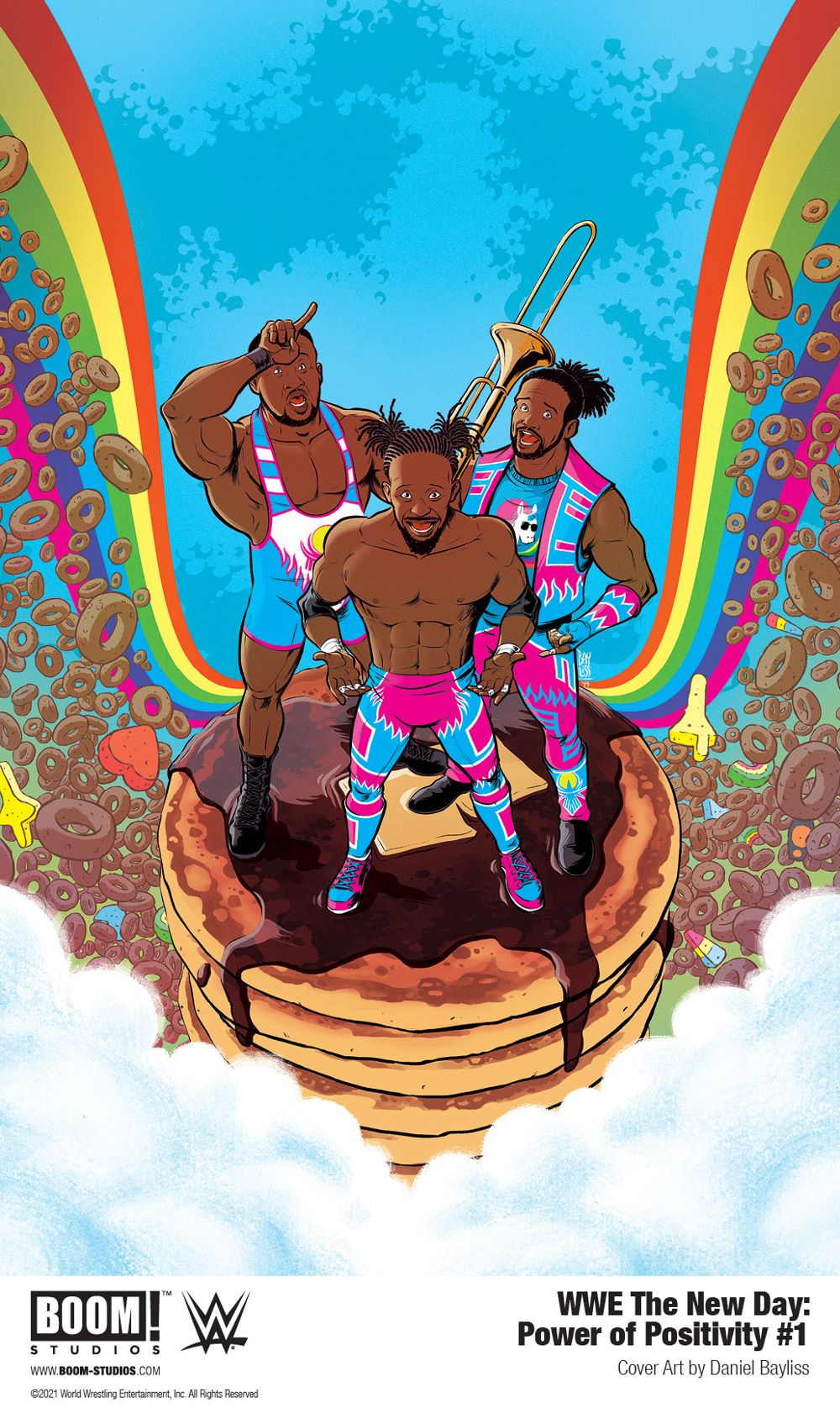 WWE_NewDay_PowerPositivity_001_Cover_PROMO Pancakes persuade in WWE THE NEW DAY: POWER OF POSITIVITY