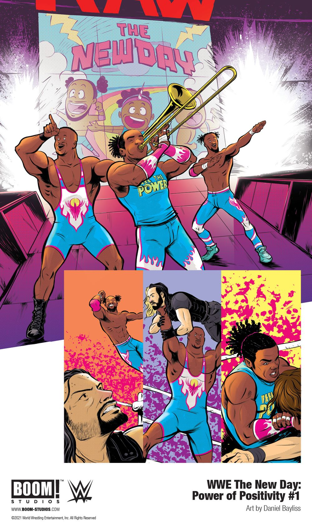 WWE_NewDay_PowerPositivity_001_InteriorArt_001_PROMO Pancakes persuade in WWE THE NEW DAY: POWER OF POSITIVITY
