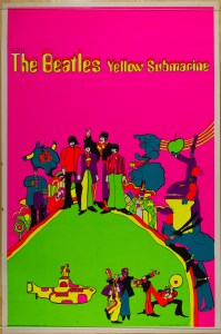Yellow-Submarine-blacklight-199x300 Vintage Headshop & Blacklight Posters up for Auction at PAE