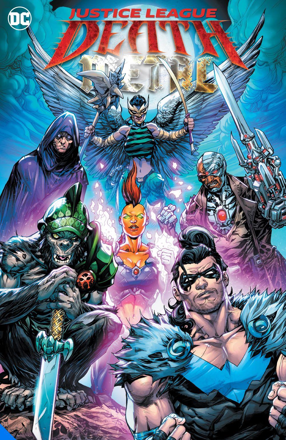 justiceleaguedeathmetal_adv DC Comics August 2021 Solicitations