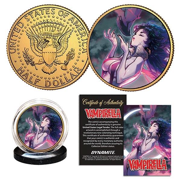 BESCH-VAMPIRELLA-COIN-GOLD-REGULAR-MASTER Dynamite Entertainment September 2021 Solicitations