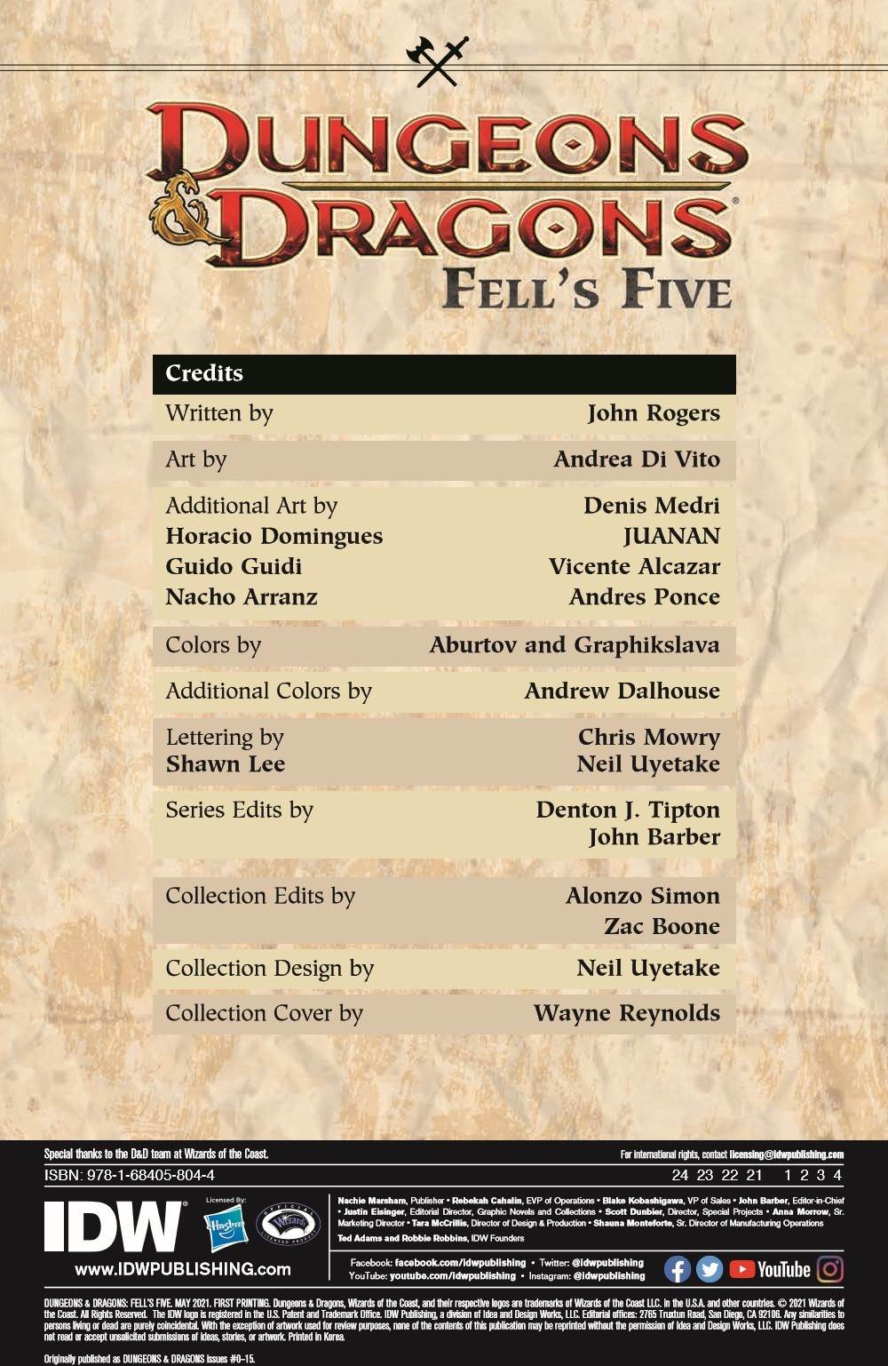 DD_FellsFive_TPB_pr-2 ComicList Previews: DUNGEONS AND DRAGONS FELL'S FIVE TP
