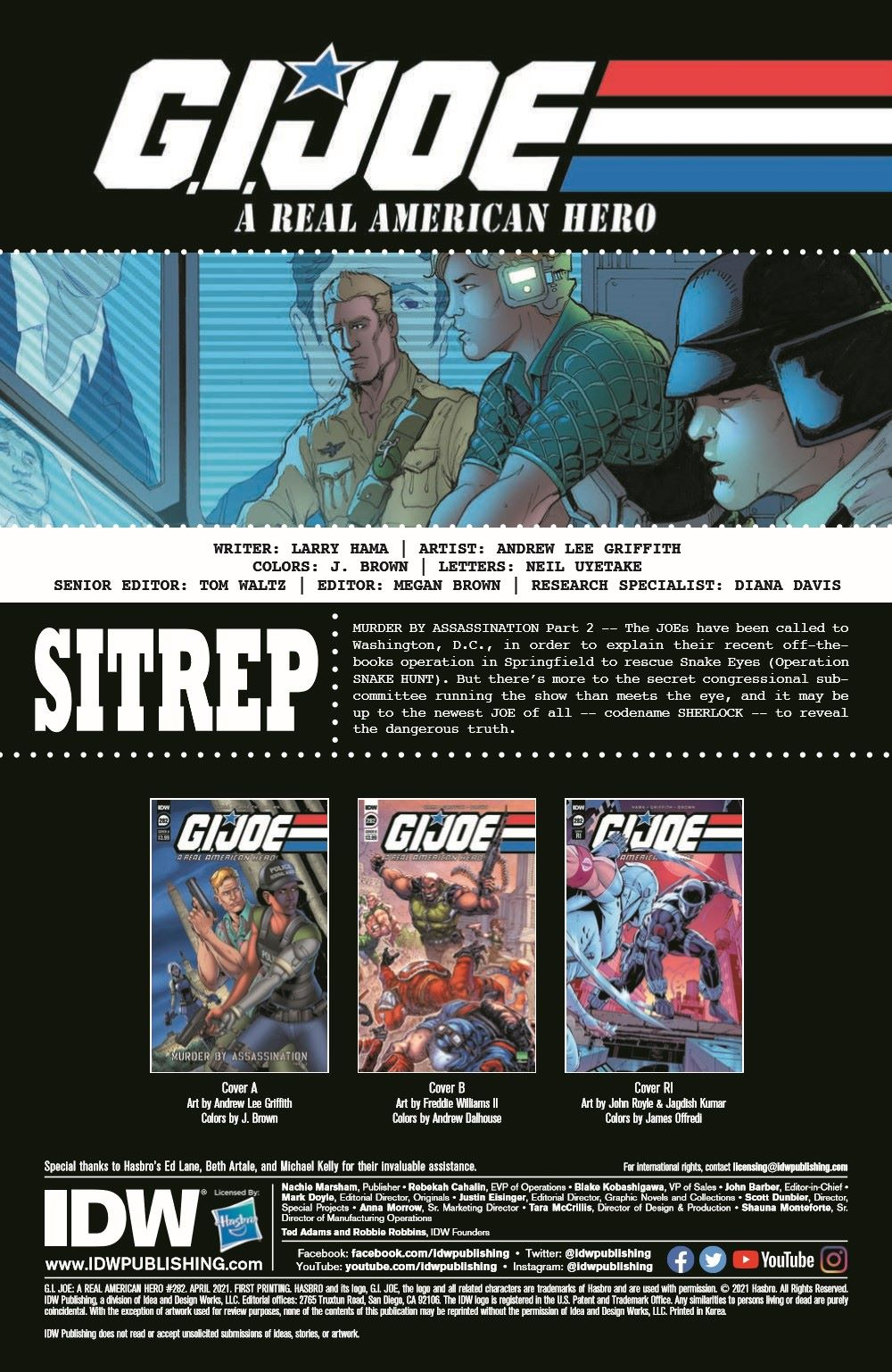 GIJoeRAH282-pr-2 ComicList Previews: G.I. JOE A REAL AMERICAN HERO #282