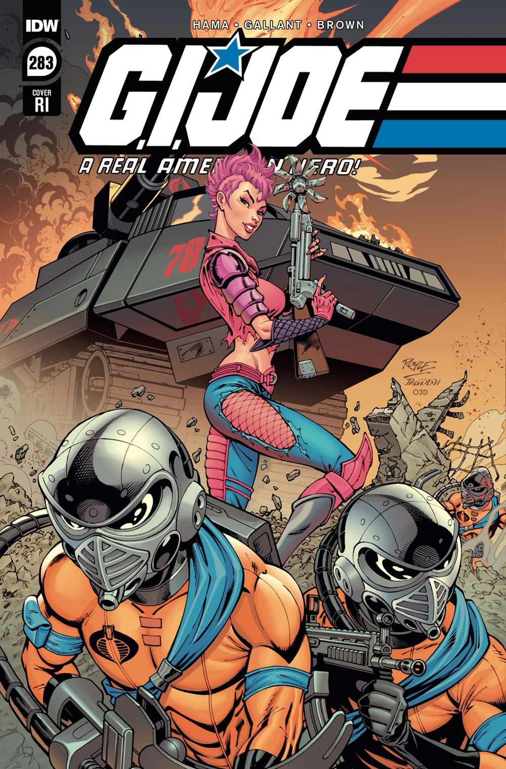 GIJoeRAH283-coverRI ComicList Previews: G.I. JOE A REAL AMERICAN HERO #283