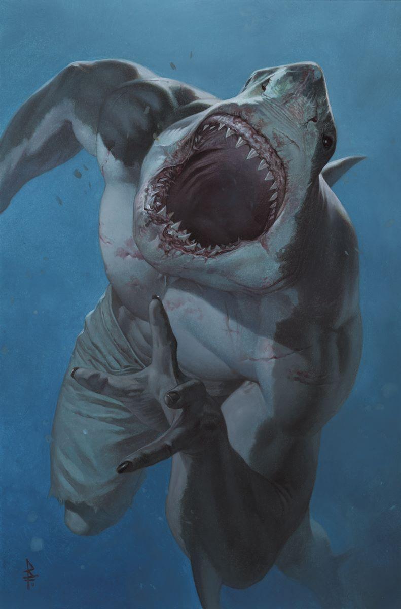 King-Shark-cover-Federici-template-A DC Comics September 2021 Solicitations