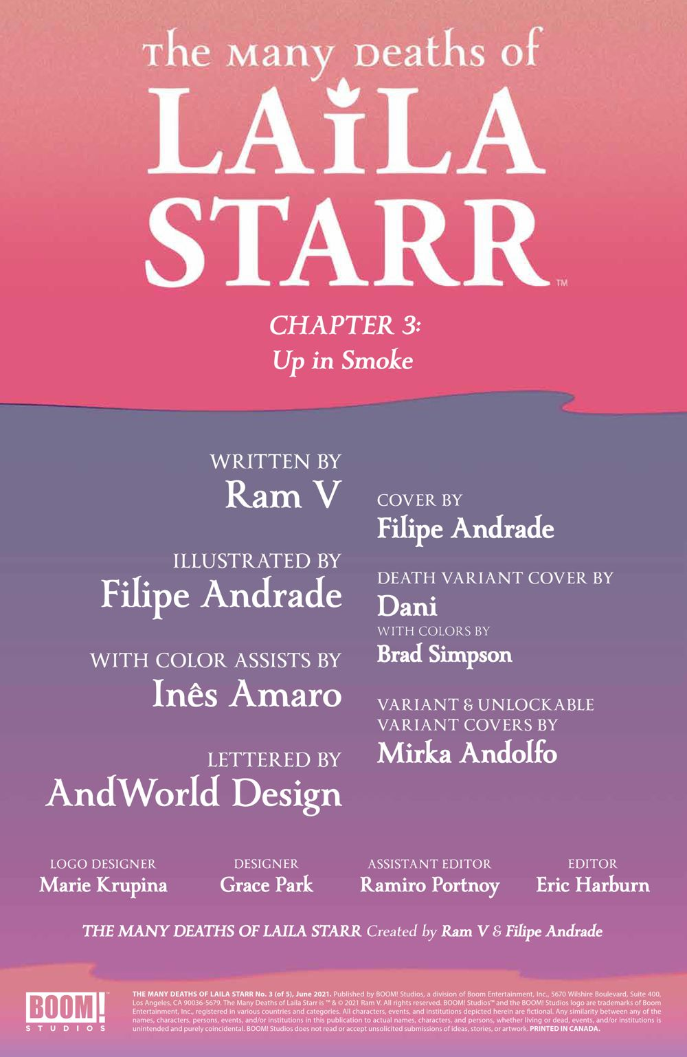 ManyDeathsLailaStarr_003_PRESS_2 ComicList Previews: THE MANY DEATHS OF LAILA STARR #3 (OF 5)