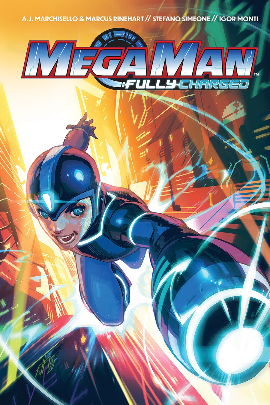 MegaMan_FullyCharged_SC_Cover ComicList Previews: MEGA MAN FULLY CHARGED TP
