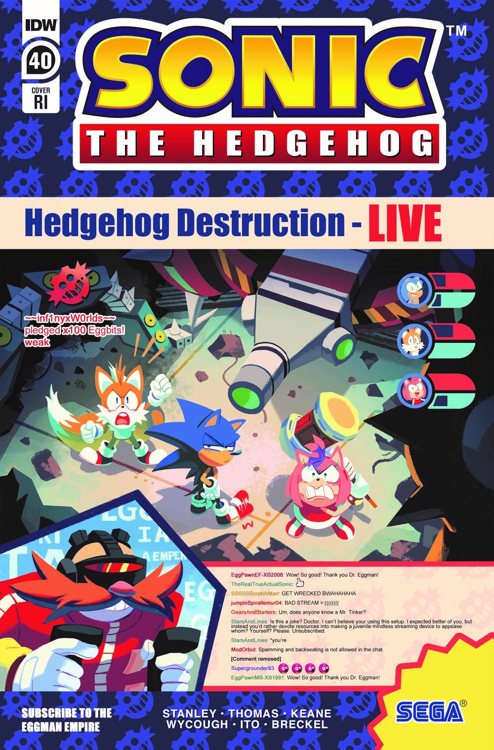 STH40_cvrRI ComicList Previews: SONIC THE HEDGEHOG #40