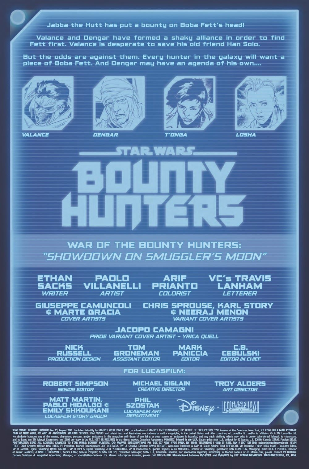 STWBOUNTYHUNT2020013_Preview-2 ComicList Previews: STAR WARS BOUNTY HUNTERS #13