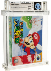 Super-Mario-64-9.8-e1624380141640-218x300 Rare Nintendo Games at Auction Border on $100K