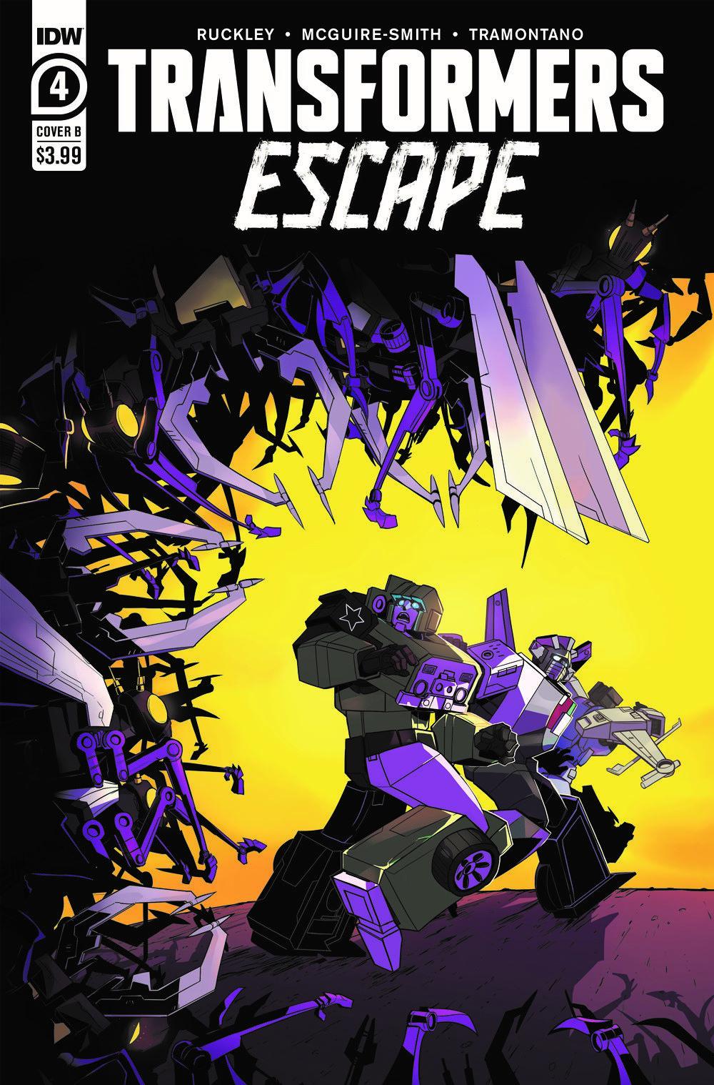 TFEscape04-Cover-B ComicList Previews: TRANSFORMERS ESCAPE #4 (OF 5)