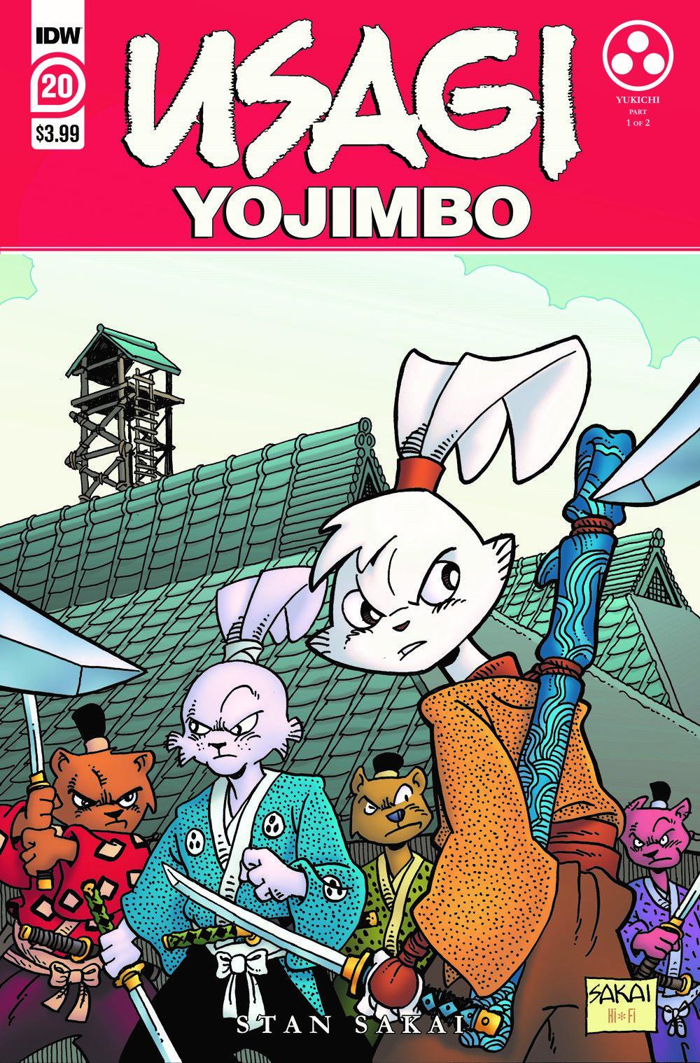 Usagi20_cvrA ComicList: IDW Publishing New Releases for 06/16/2021