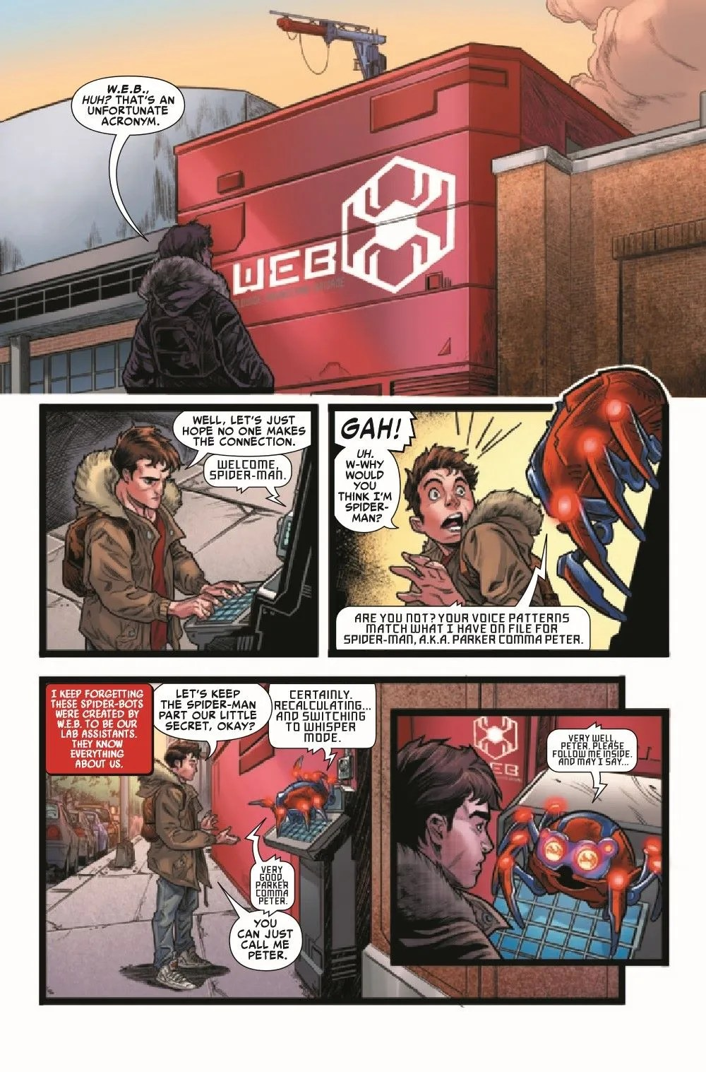 WEBOFSM2020001_Preview-4 ComicList Previews: W.E.B. OF SPIDER-MAN #1 (OF 5)