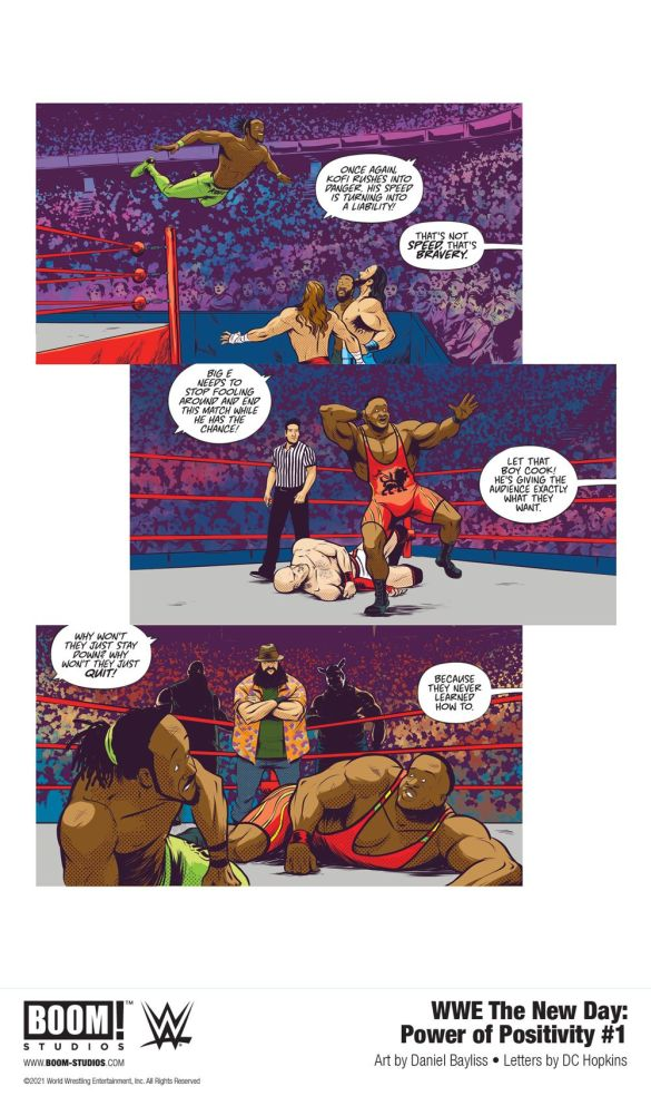 WWE_NewDay_PowerPositivity_001_InteriorArt_001_PROMO-1 First Look at WWE THE NEW DAY: POWER OF POSITIVITY #1 from BOOM! Studios